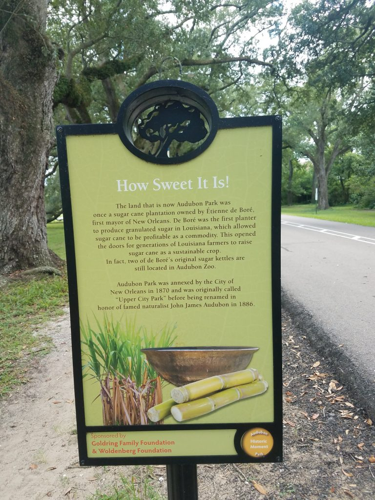Historic marker Audubon Park
